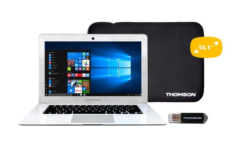 Ordinateur portable 14,1 THOMSON NEO14Pack + Housse + Cle USB 8 go