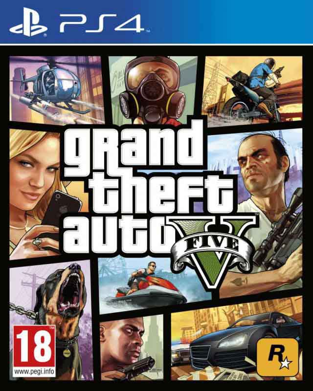 Jeu video PS4 GTA V (photo)