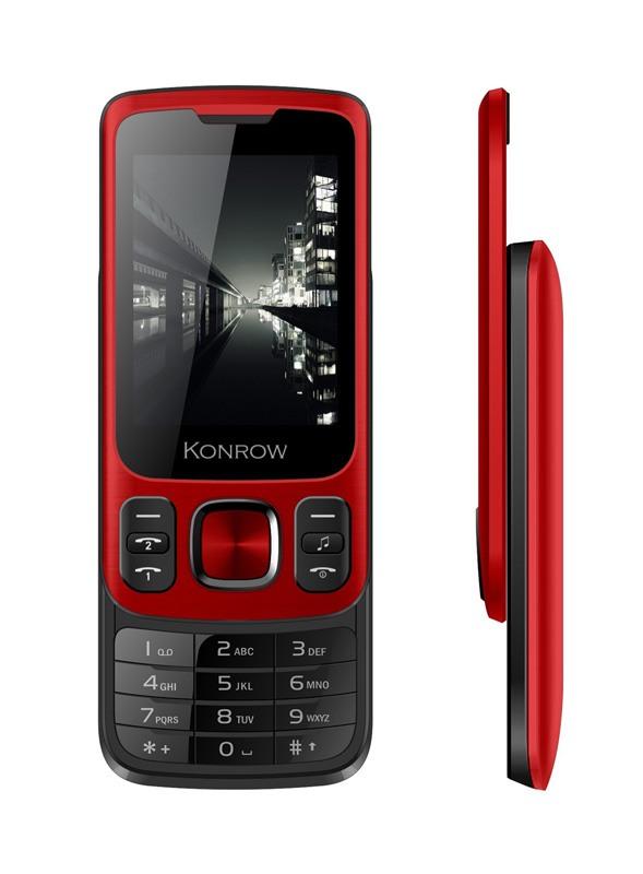 Mobile KONROW Slider noir et rouge
