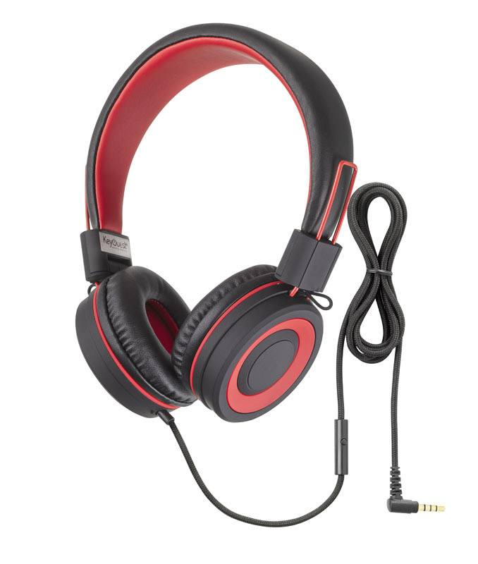 Casque micro KEYOUEST URBAN noir/rouge (photo)
