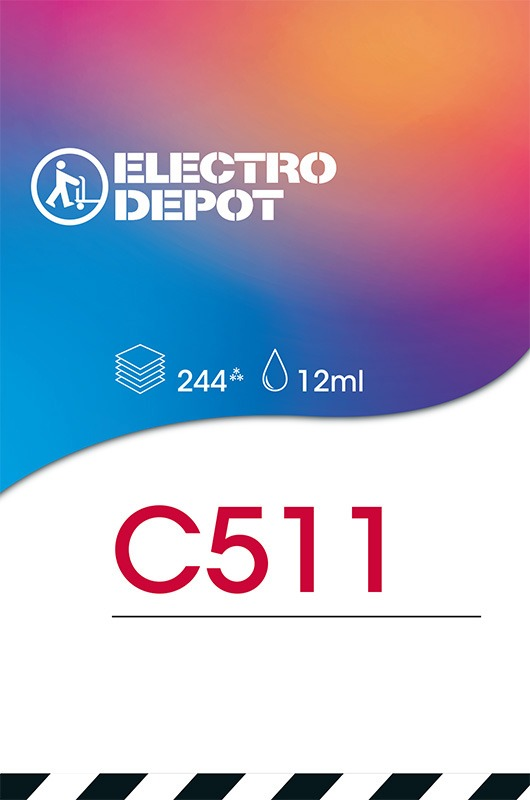 Cartouche d'encre compatible CANON ELECTRO DÉPÔT C511 3 couleurs (photo)