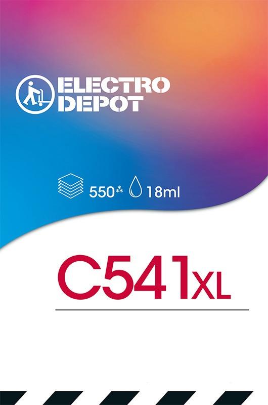 Cartouche d'encre compatible CANON ELECTRO DÉPÔT C541XL 3 couleurs (photo)