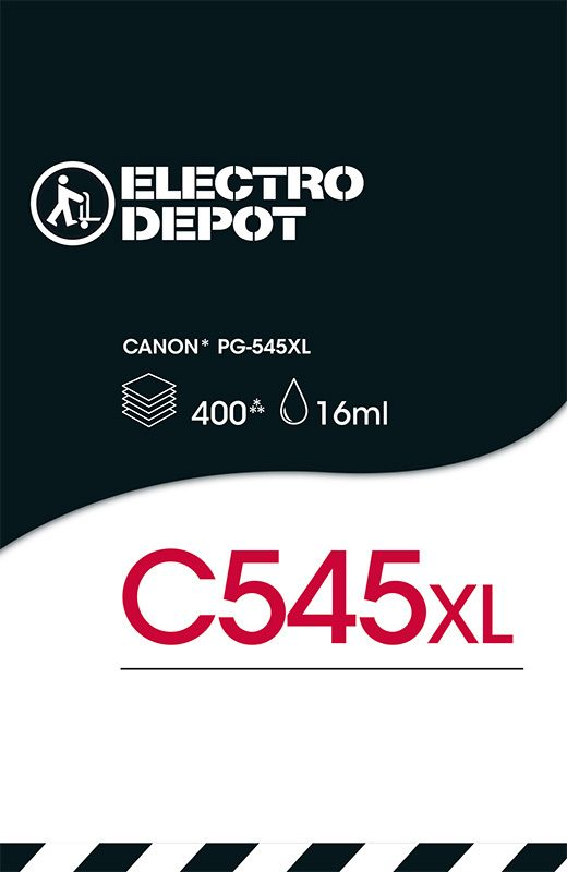 Cartouche d'encre compatible CANON ELECTRO DÉPÔT C545 XL noir (photo)