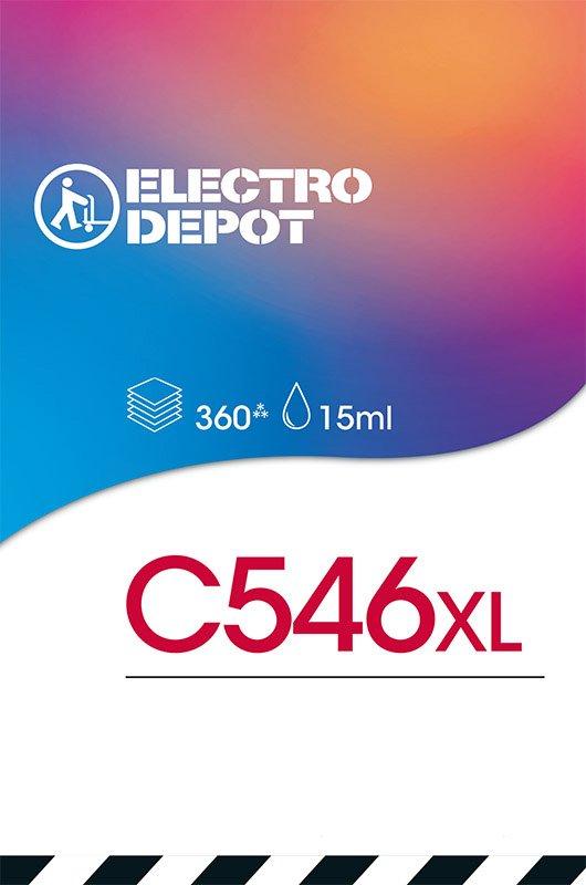 Cartouche d'encre compatible CANON ELECTRO DÉPÔT C546XL 3 couleurs (photo)