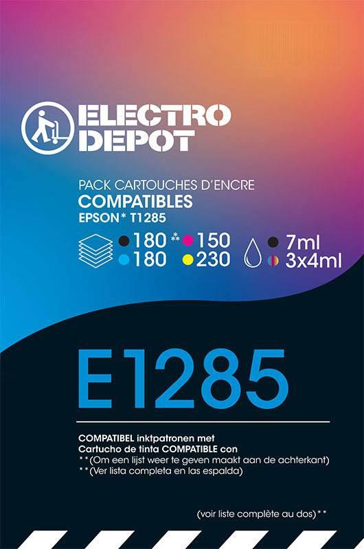 Cartouche compatible EPSON T1285 ELECTRO DÉPÔT E1281/2/3/4 (photo)