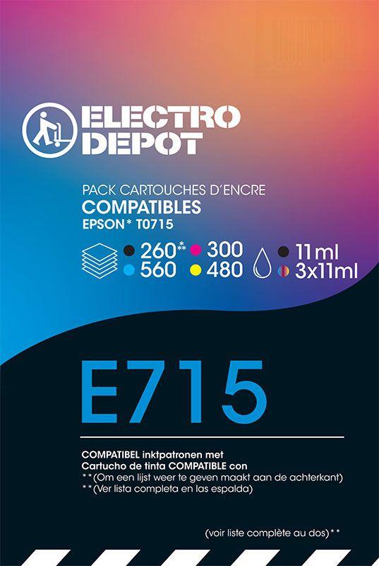 Cartouche compatible EPSON T0715 ELECTRO DÉPÔT E711/2/3/4 (photo)