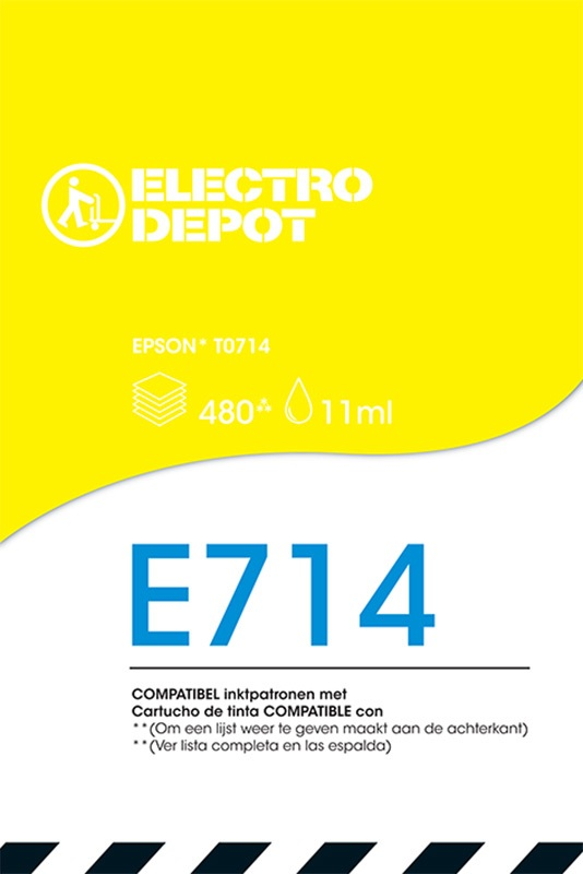 Cartouche compatible EPSON T0714 ELECTRO DÉPÔT E714 jaune (photo)