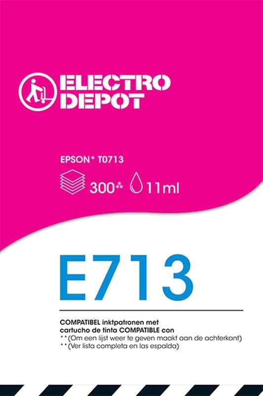 Cartouche compatible EPSON T0713 ELECTRO DÉPÔT E713 magenta (photo)