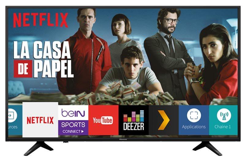 TV UHD 4K HISENSE 43A6140 SMART HDR WIFI (photo)