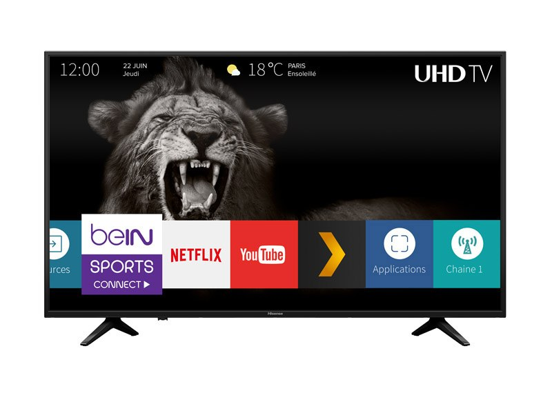 TV UHD 4K HISENSE 65A6140 SMART WIFI HDR (photo)
