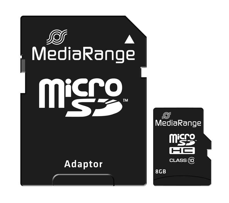 Carte Micro Sd Media-range 8 Go C10/60 + Adaptateur (photo)