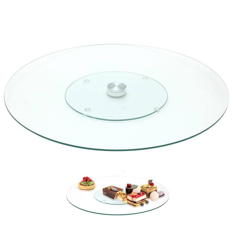 Plateau tournant verre 45cm (photo)