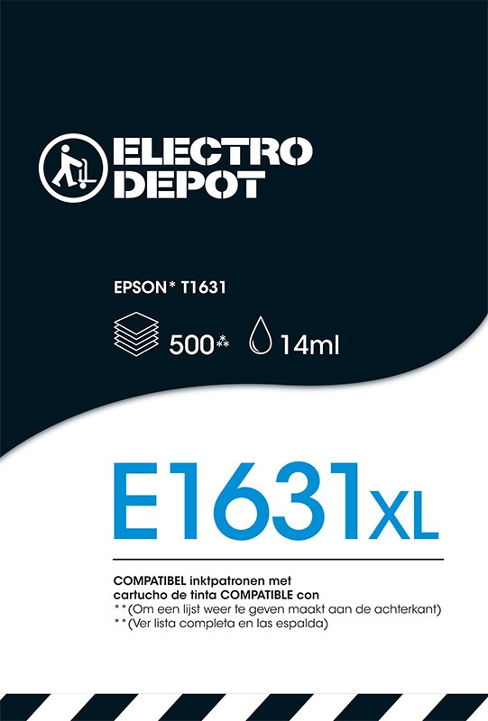 Cartouche compatible EPSON 16 noire ELECTRO DÉPÔT E1631 noire (photo)