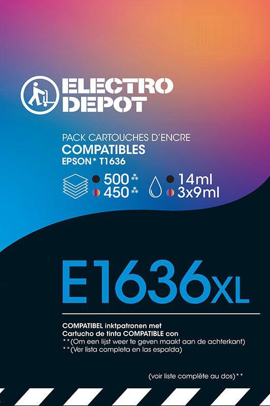 Cartouche compatible EPSON 16 multipack ELECTRO DÉPÔT E1631/2/3/4 multipack (photo)