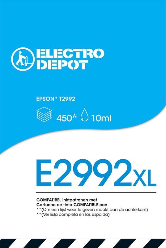 Cartouche compatible EPSON 29 cyan ELECTRO DÉPÔT E2992 cyan (photo)