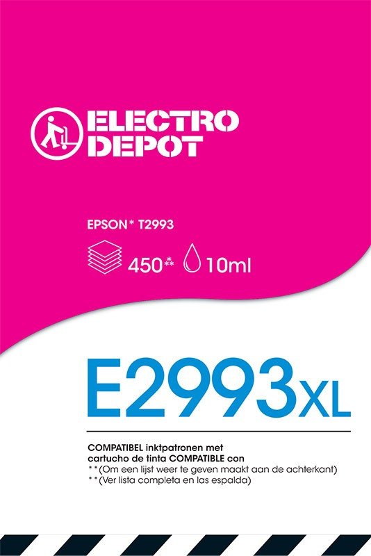 Cartouche ELECTRO DÉPÔT compatible EPSON 29 magenta  E2993 / Fraise (photo)