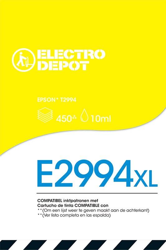Cartouche compatible EPSON 29 jaune ELECTRO DÉPÔT E2994 jaune (photo)