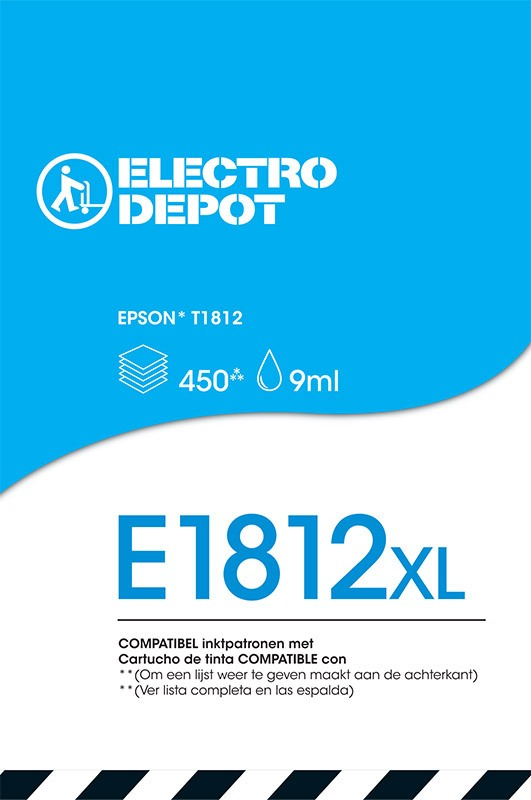 Cartouche compatible EPSON 18 cyan ELECTRO DÉPÔT E1812 cyan (photo)