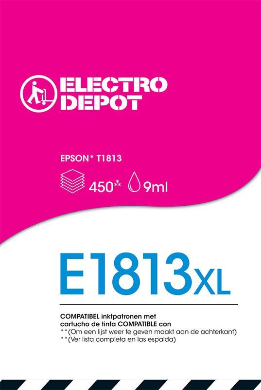Cartouche compatible EPSON 18 magenta ELECTRO DÉPÔT E1813 magenta (photo)