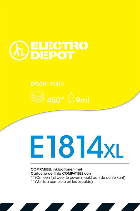Cartouche compatible EPSON 18 jaune ELECTRO DÉPÔT E1814 jaune (photo)