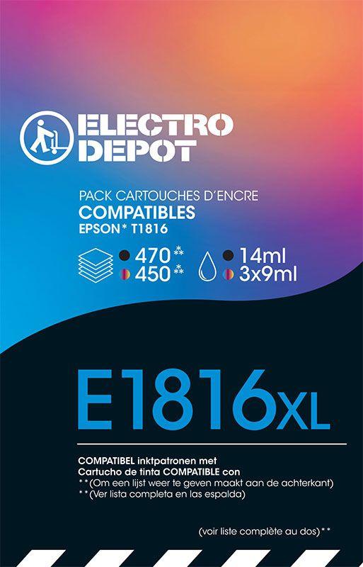 Cartouche compatible EPSON 18 multipack ELECTRO DÉPÔT E1811/2/3/4 multipack (photo)