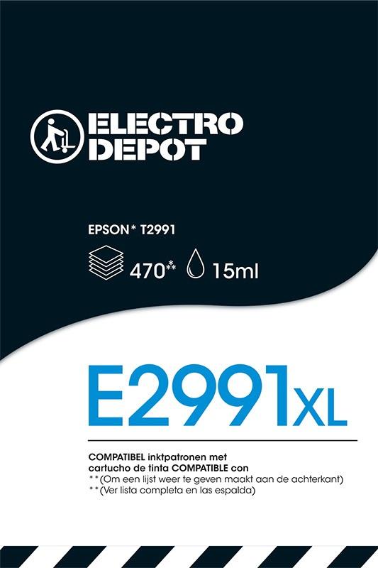 Cartouche compatible EPSON 29 noire ELECTRO DÉPÔT E2991 noire (photo)