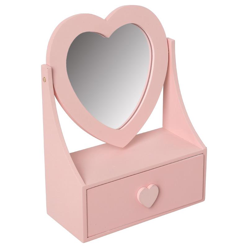 Boîte à bijoux coeur avec tiroir (photo)
