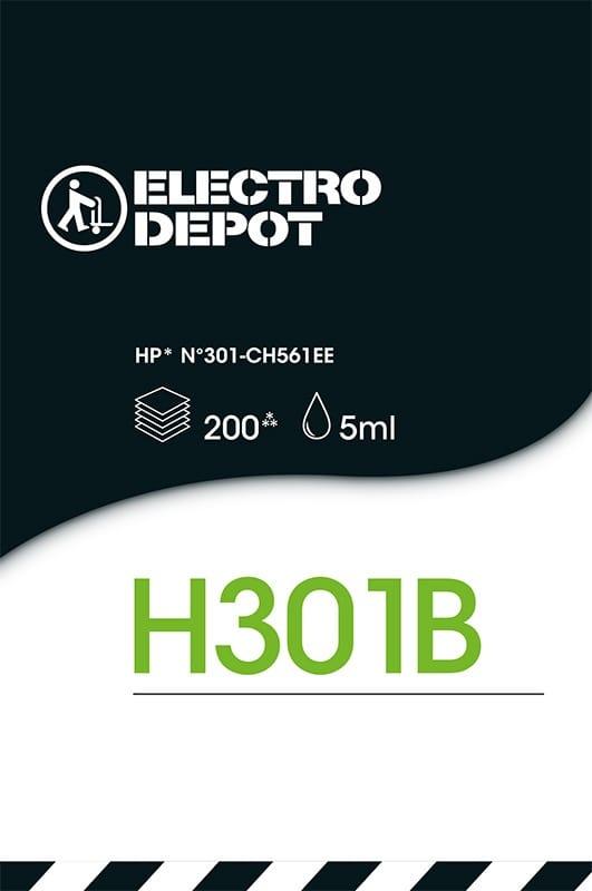 Cartouche d'encre compatible HP ELECTRO DÉPÔT 301 B noir (photo)