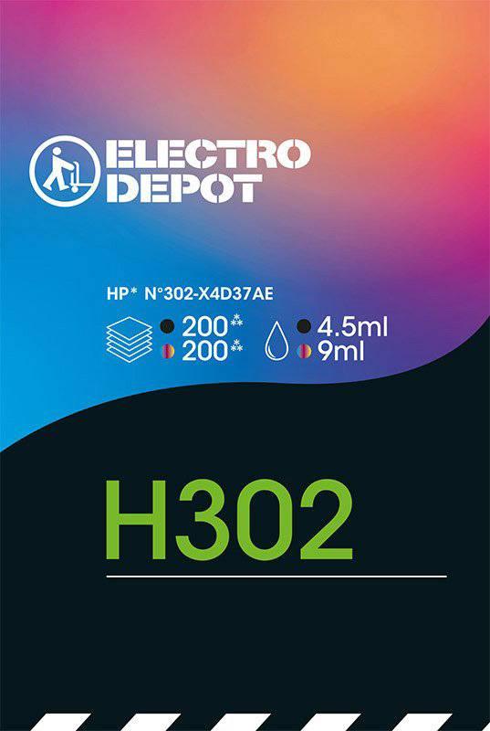 Cartouche compatible HP 302 multipack ELECTRO DÉPÔT H302 bi-pack (photo)