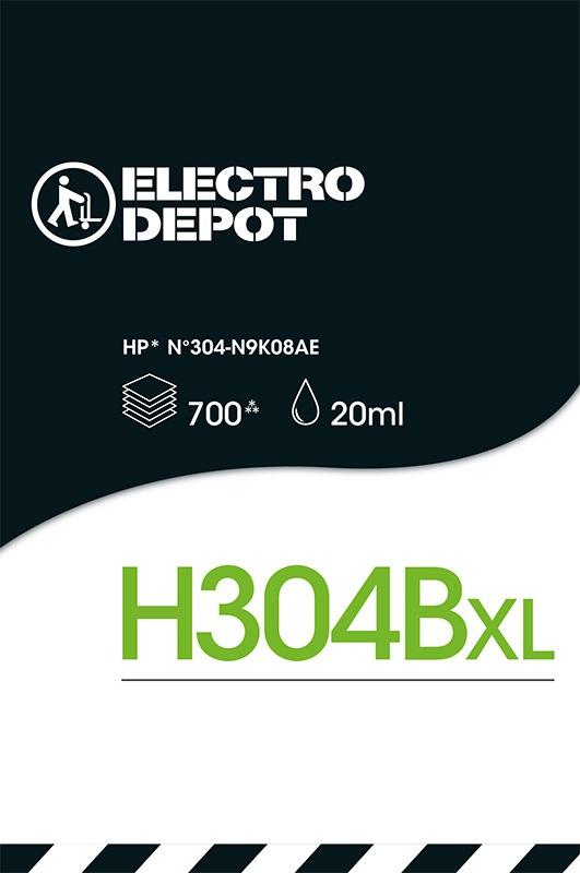 Cartouche d'encre compatible HP ELECTRO DÉPÔT 304XL B noir (photo)