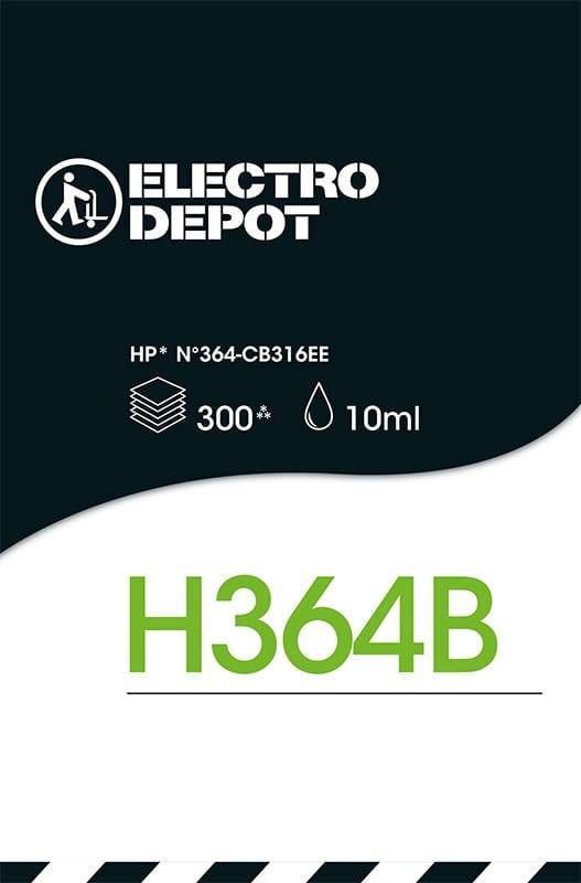 Cartouche d'encre compatible HP ELECTRO DÉPÔT 364 B noir (photo)