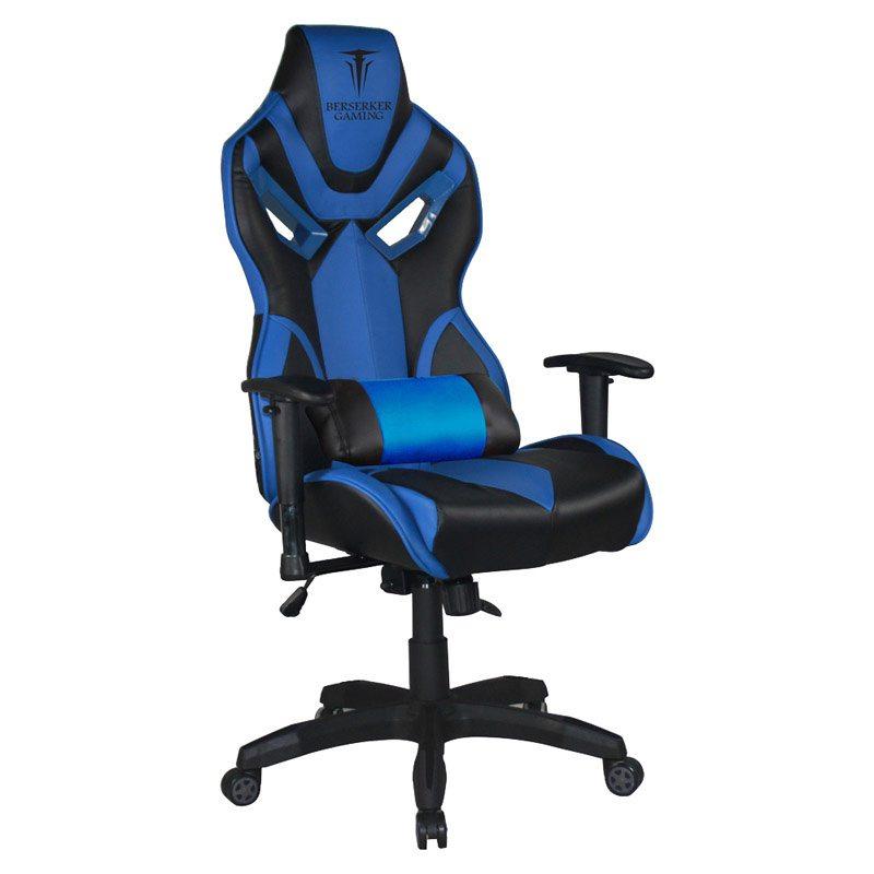 Fauteuil de bureau gaming BERSERKER BERGELMIR bleu (photo)