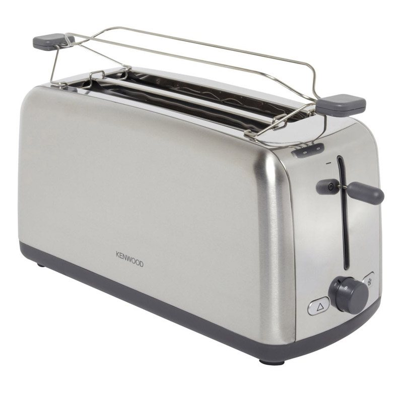 Grille pain KENWOOD TTM470 Inox + rechauffe viennoiserie (photo)