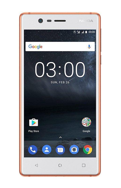 Smartphone NOKIA 3 HD Blanc et cuivre (photo)