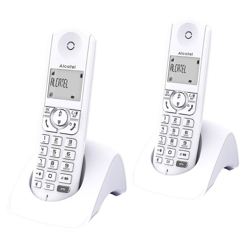 Telephone duo repondeur ALCATEL F320 Voice Blanc (photo)