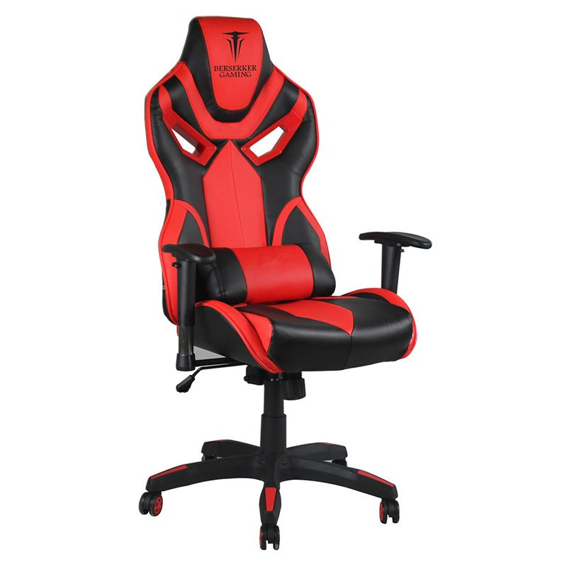 Fauteuil de bureau gaming BERSERKER BERGELMIR rouge (photo)