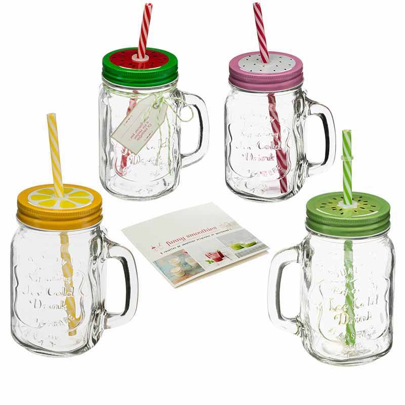 Coffret smoothies 4 drink jar (photo)