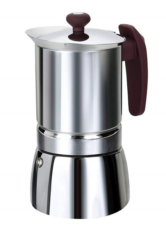 Cafetière italienne inox 6 tasses tous feux dont induction (photo)