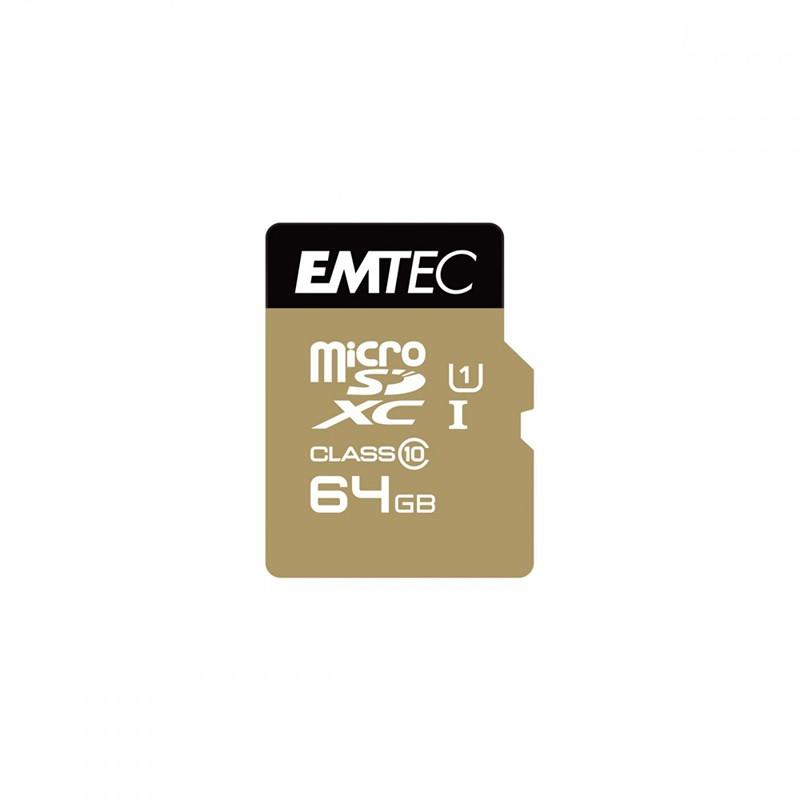 Carte Micro SD EMTEC 64 GO Class10 Classic (photo)