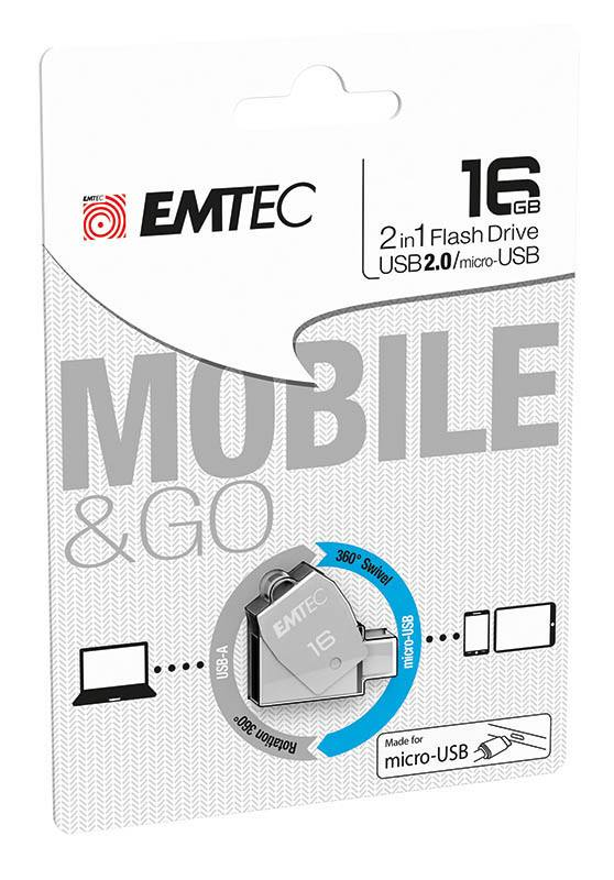 Cle USB EMTEC Micro USBOTG T250 16 Go (photo)