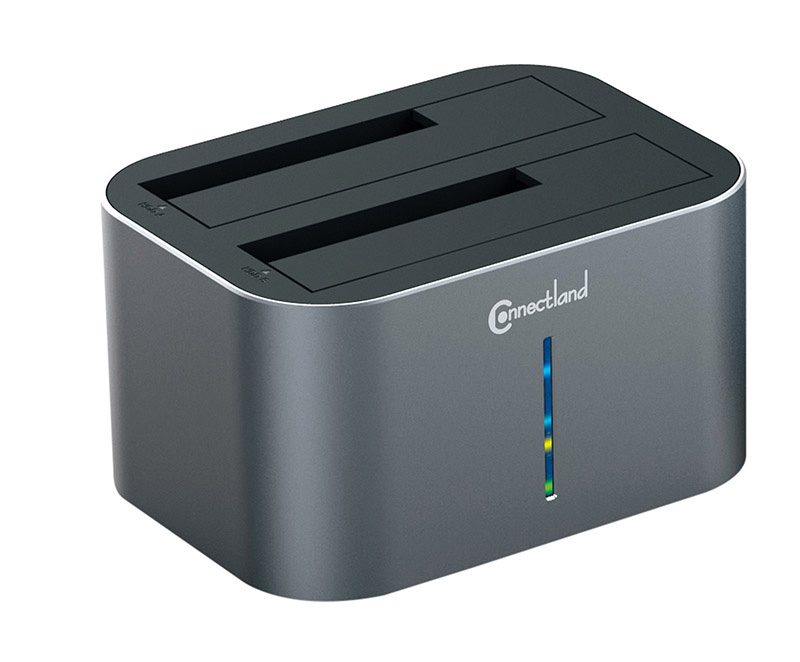 Station de clonage pour disque dur CONNECTLAND 2x HDD Sata (photo)