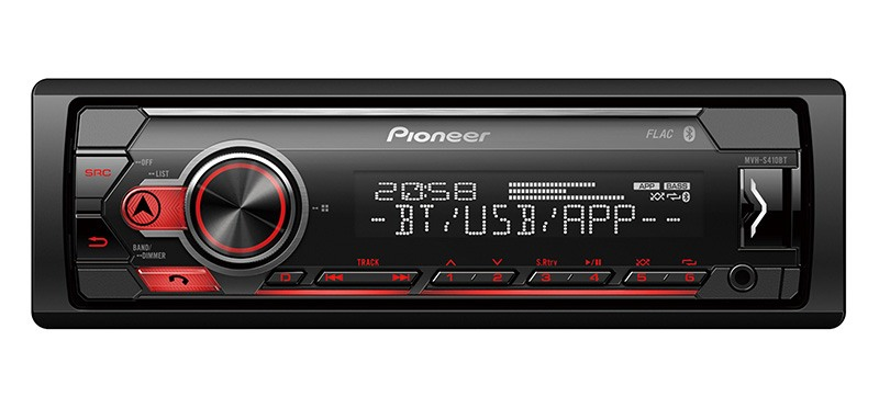 Autoradio PIONEER MVH-S410BT Bluetooth (photo)