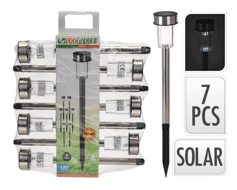 Lampe solaire 7 pcs pic Hauteur 36cm (photo)