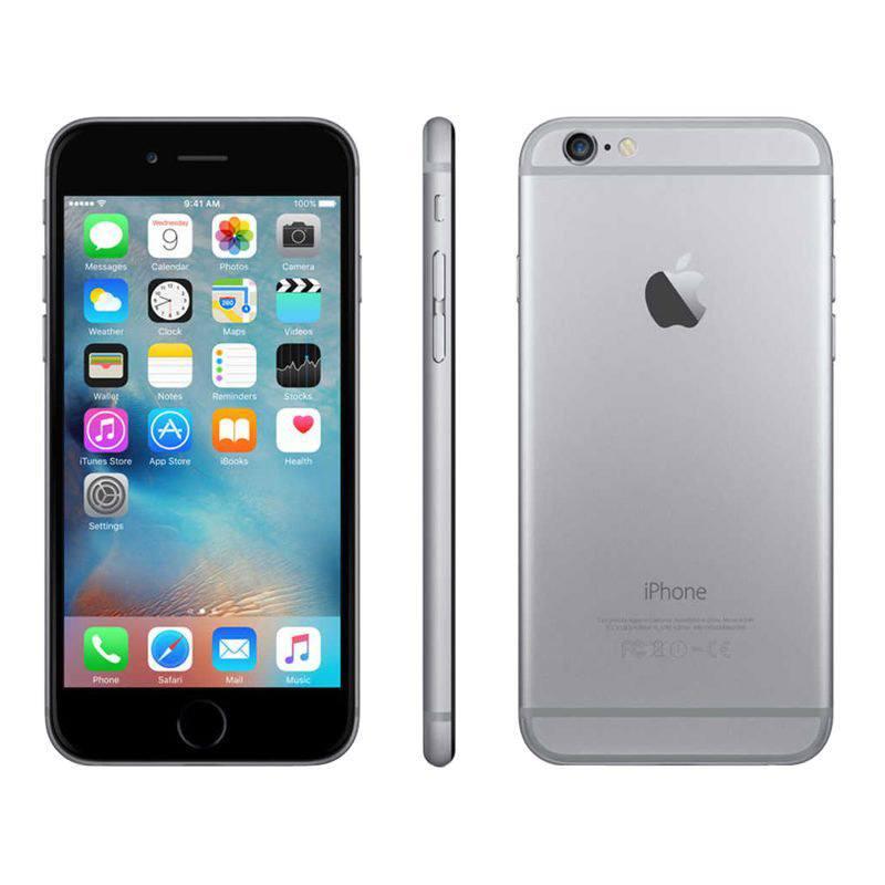 APPLE IPHONE 6 16 GO GRIS SIDERAL RECONDITIONNÉ GRADE EC0 + COQUE (photo)