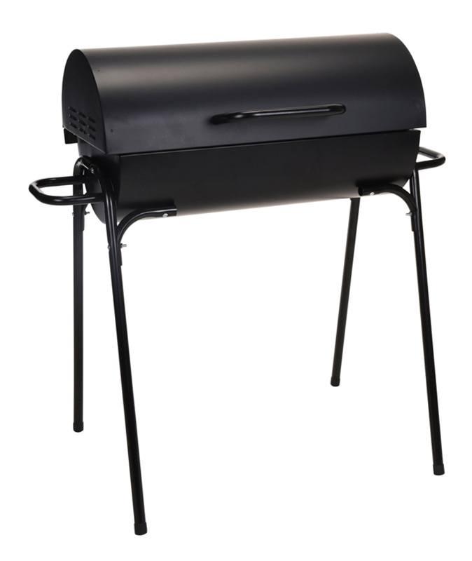 Barbecue charbon tonneau H 70 cm x L 70 cm x P 40 cm