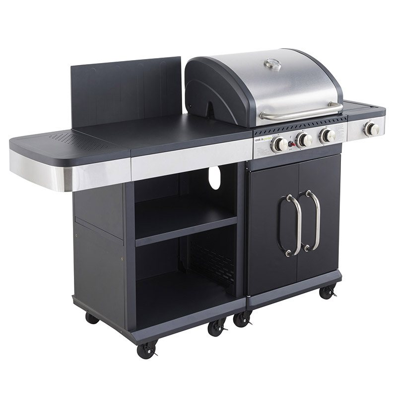 Barbecue gaz GARDEN MAX CUISINE EXTERIEURE + Housse