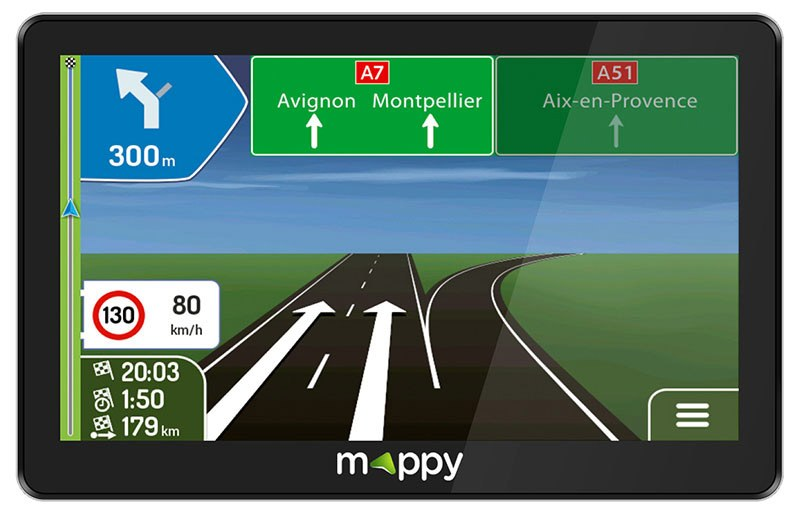 GPS MAPPY MAXI E738 7'' CARTE A VIE (photo)