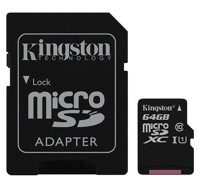 Carte Micro SD 64 Go KINGSTON class 10 (photo)
