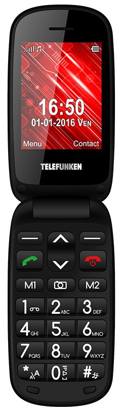 MOBILE SENIOR TELEFUNKEN TM 250 IZY noir (photo)