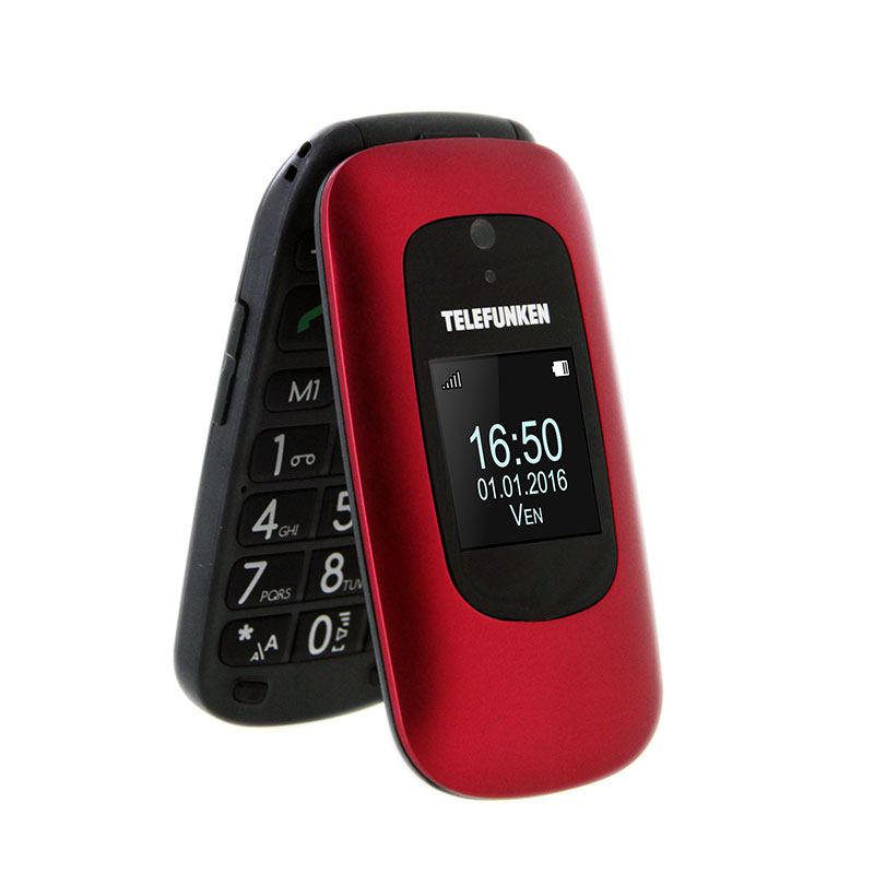 Mobile SENIOR TELEFUNKEN TM 250 IZY rouge (photo)